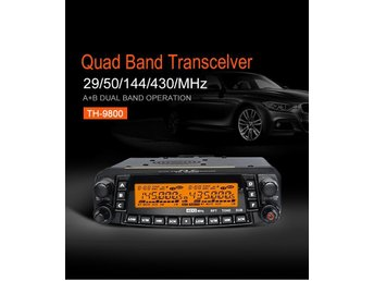 TH-9800 50W mobil radiosändare VHF UHF Quad Band bilradio
