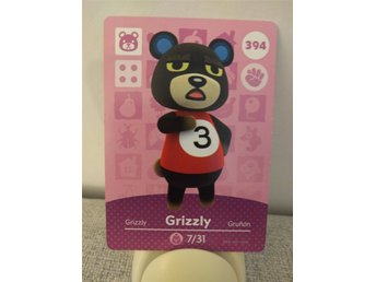 Animal Crossing Amiibo Welcome Amiibo card nr 394 Grizzly