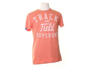 Superdry, T-shirt, Strl: M, Orange/Vit