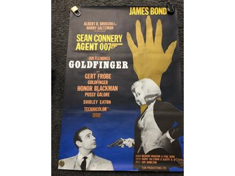 James Bond agent 007 Goldfinger filmaffisch original