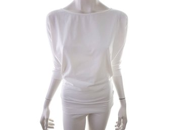 House of Lola 3/4 Sleeve Tunic Size S White Cotton