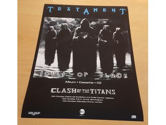 TESTAMENT SOULS OF BLACK 1990 POSTER