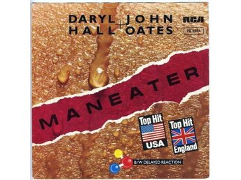 "HALL & OATES – Maneater (EX) / 7"" Vinyl PS Single Germany 1982"