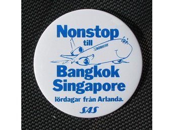 FLYG Badge/knapp SAS DC-10