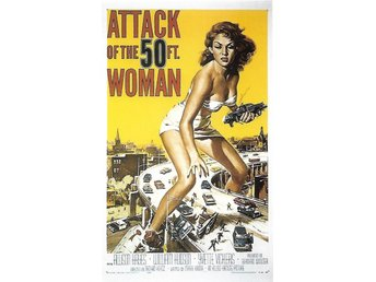 Attack of the 50 Foot Woman 1958 Vykort. Sci-fi
