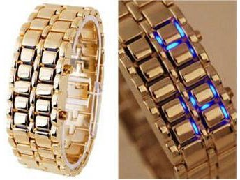 NEW Golden Iron Samurai Cool Digital LED Klocka Armbandsur