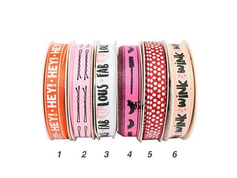 REA! Kiss and Makeup - Grosgrain - 2 meter - Nr 6