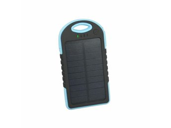 Camping solar power bank 5000 mAh. - Blå