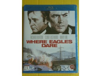 CLINT EASTWOOD: WHERE EAGLES DARE (1968)  *  RARITET / NY & INPLASTAD / UTGÅTT !