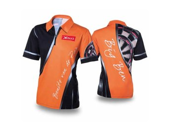 XQmax Darts T-shirt BvdP Replica orange strl S QD9200220