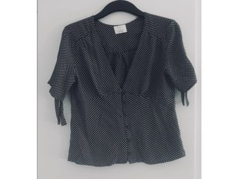 Pins & Needles Sally Sue Polka Dot Top Urban Outfitters Pinup rockabilly  Stl S