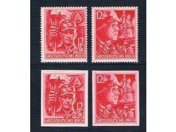 German Third Reich 1945 Mi# 909-910 909U-910U MNH - Hong Kong - German Third Reich 1945 Mi# 909-910 909U-910U MNH - Hong Kong