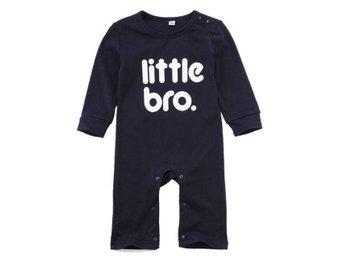 Little bro/Lillebror-Jumpsuit/Sparkdräkt strl 6-12 månader strl 74/80 - Bromölla - Little bro/Lillebror-Jumpsuit/Sparkdräkt strl 6-12 månader strl 74/80 - Bromölla