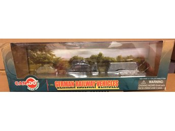 WWII  GERMAN RAILWAY VEHICLES INFANTERIEWAGEN   CANDO / DRAGON 1/144 FÄRDIGBYGGD
