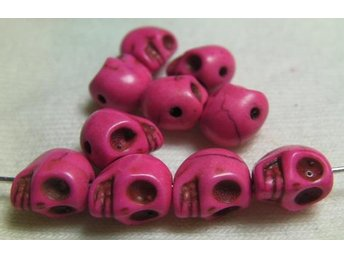Döskallar Synthetic Howlite 9x7.5mm ** Rosa ** 20 st