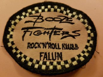 BOOZE FIGHTERS FALUN raritet tygmärke patch raggare klubb rockabilly dalarna