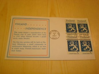 50th Anniversary Independence of Finland 1917-1967 USA förstadagsbrev FDC