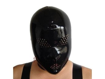 NY HET SEXIG Svart LATEX BONDAGE MASK GUMMI RUBBER FETISH BDSM HOT GAMES, O/S