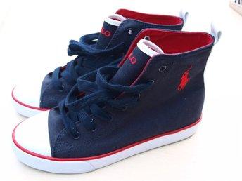 Nya Basket kängor skor sneakers st 39 Ralph Lauren sommar Fynd Rea Retro  Vintage
