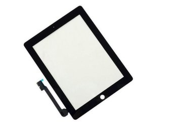 iPad 4 Glas/Digitizer Touch Panel-Svart