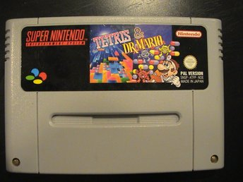 TETRIS & DR. MARIO / SUPER NINTENDO SNES / FUNKTIONSTESTAT / PAL VERSION