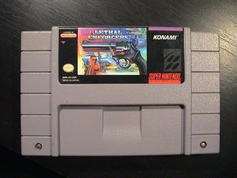 LETHAL ENFORCERS / SUPER NINTENDO SNES / USA IMPORT