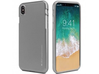 Mercury i Jelly Metal skal iPhone X Färg: Grå