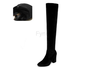 Dam Boots Winter Boots Over The Knee Boots black velvet 34