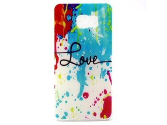 Skal Color Painting and Love till Galaxy S6 Edge+ / TPU