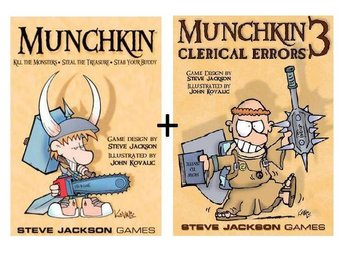 Munchkin med expansionen Clerical Errors