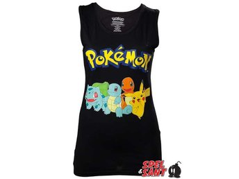 Pokemon Pikachu and Friends Tjej Tanktop Svart (Medium)