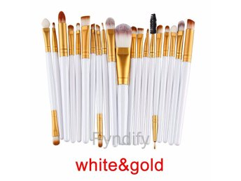 20st Sminkborstar Makeup brush set White & Gold