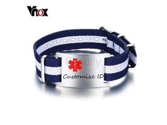 Armband Vnox Free Engraving Men's Medical Default Title