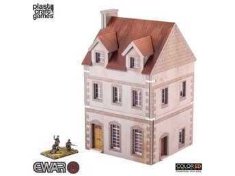 EWAR WWII ColorED Miniature Gaming Model Kit 15 mm Two-storey Building