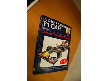 Haynes Workshop manual för Red bull racing F1 Car. Formula 1.