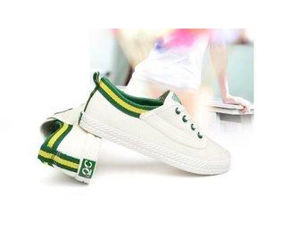 Studenter Damskor stl 40 White-G Canvas Shoes Casual British - Shanghai - Studenter Damskor stl 40 White-G Canvas Shoes Casual British - Shanghai