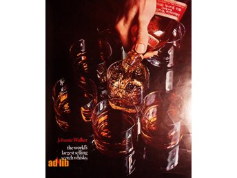 JOHNNIE WALKER SCOTCH WHISKY TIDNINGSANNONS Retro 1968