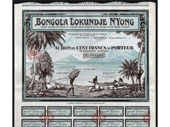 1927 Douala, Cameroun, Africa: Bongola Lokundje N'Yong - Oakville, Ontario, Canada - 1927 Douala, Cameroun, Africa: Bongola Lokundje N'Yong - Oakville, Ontario, Canada