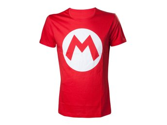 T-Shirt - Nintendo - Mario with Logo, Red - M