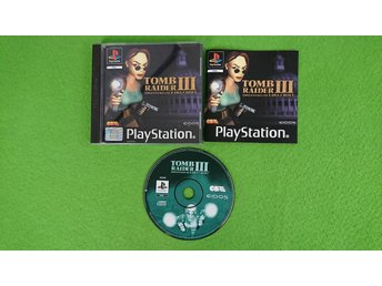 Tomb Raider 3 KOMPLETT ENGELSK UTGÅVA Playstation PSone ps1