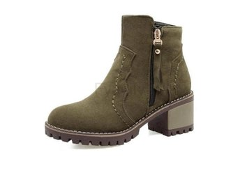 Dam Boots On Vintage Warm Winter Footwears Army Green 34