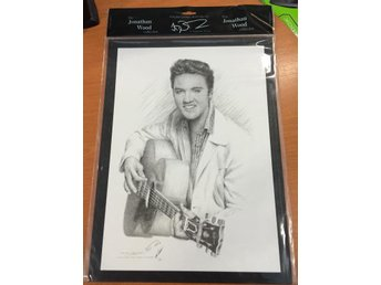 Elvis med gitarr - The Jonathan Wood Drawing - NYTT