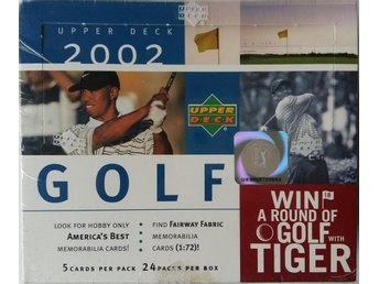 2002 Upper Deck Golf Trading Cards Box