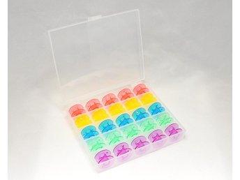 Box med 25 stycken undertrådsspolar - Tumba - Box med 25 stycken undertrådsspolar - Tumba