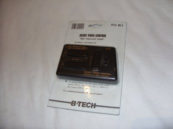 Scart Video Control / Switch B-Tech Scart, SVHS, RGB VHS, DVD TV spel