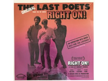 THE LAST POETS - RIGHT ON! NY LP GATEFOLD
