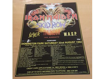 IRON MAIDEN W.A.S.P. MONSTER OF ROCK DONNINGTON 1992 POSTER