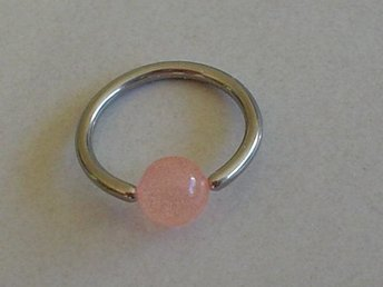 Captive Bead ring - Rosa - Modell 2589