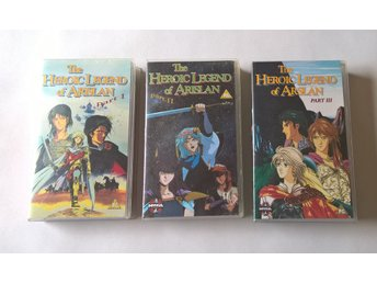 FILMPAKET - The Heroic Legend Of Arislan - Part I  II  III - 3 st VHS
