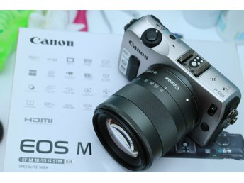 Canon EOS M med Canon EF-M 18-55mm 1:3.5-5.6 IS STM